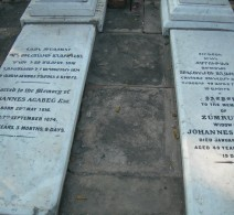 Gravestones, Diana's parents, Calcutta
