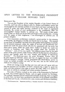 Open Letter To The Honorable President William Howard Taft, page 1.