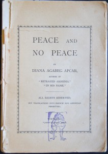Peace and No Peace, book cover, 1912, ACF