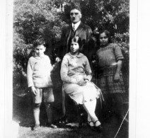 Samuel Galstaun with his children Diana and Vanick and refugee who worked for the family, 1925, Project Save