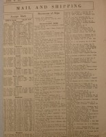 Ship Schedule, April 19, 1919