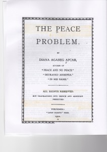 The Peace Problem, title page, 1912.